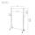 幅100.5×奥行42×高さ108-184cm ハンガープロシングル (NHPS-100CRクローム/NHPS-100WHホワイト/NHPS-100BKブラック) NHPS-100